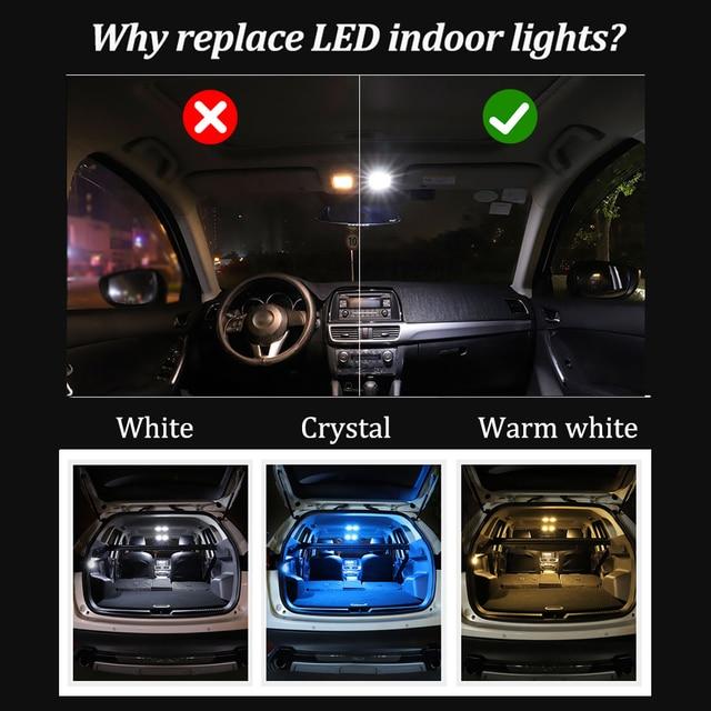 BMTxms 9Pcs Canbus Car LED Interior Map Dome Light For Porsche Macan S Turbo 2014-Present Auto Accessories 3
