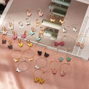 Fashion Korean Butterfly Dangle Earrings for Women Insect Acrylic Earrings 2020 Aretes Boho Mujer Aesthetic Cute Earring Jewelry