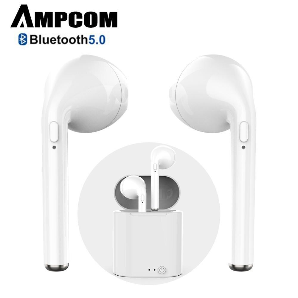AMPCOM Bluetooth Fone de Ouvido sem fio Bluetooth 5.0 Esportes fones de ouvido Estéreo Fone de Ouvido Intra-auriculares Com Caixa de Carga Para o iphone Xiaomi