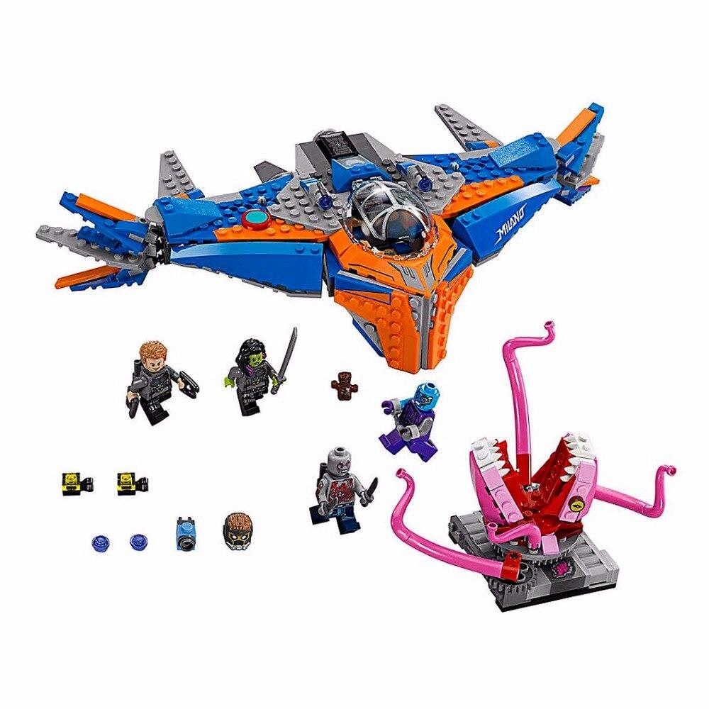 10748 481pcs Super Heroes Guardian Galaxy The Milano Vs Abilisk Model Building Blocks Toys BricksCompatible With Lepining
