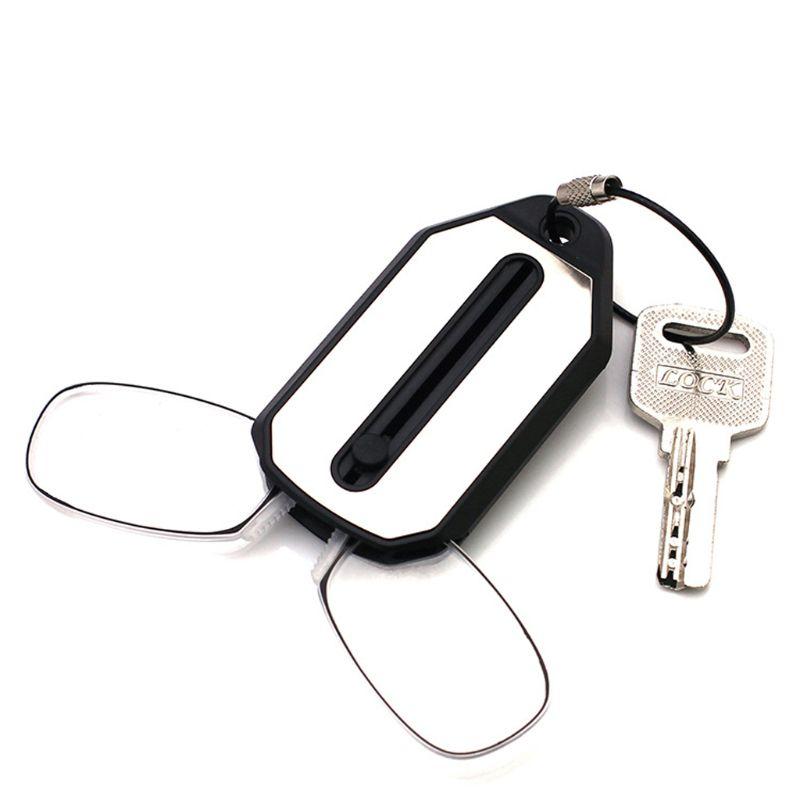 ANGELADY 1PC Mini Pocket Foldable Clip Nose Reading Glasses Keychain Black Frame For Readers 1.0/1.5/2.0/2.5/3.0