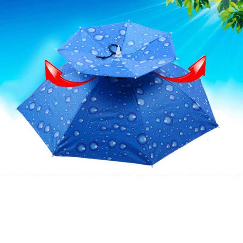 Dobrável Guarda-chuva De Pesca Chapéu Caminhadas Camping Piquenique ao ar livre Grande Dupla Viseira