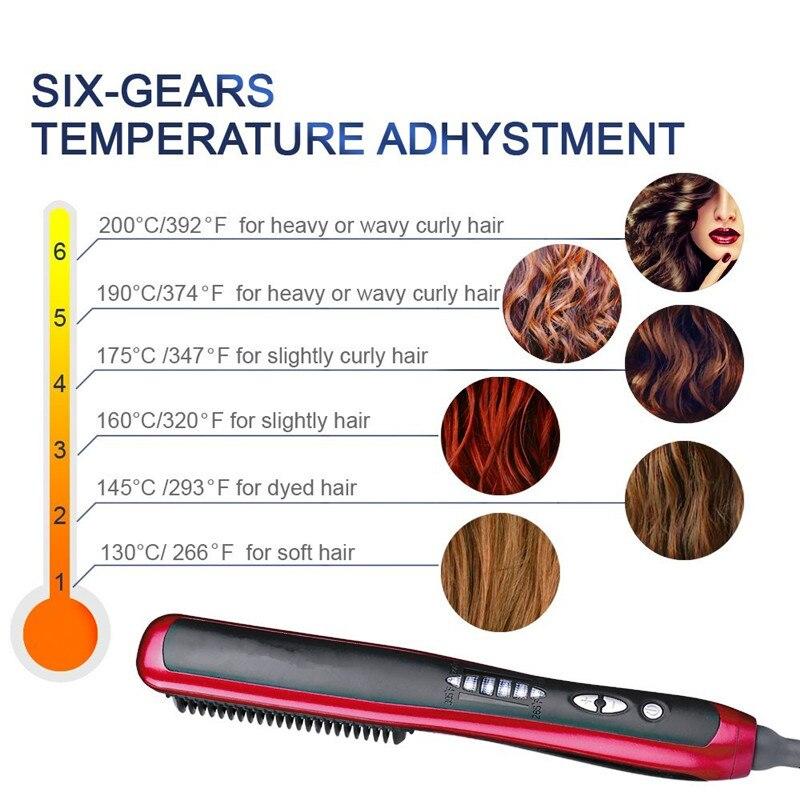 Alisador de cabelo elétrico feminino em linha