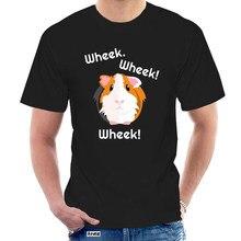 Camiseta casual elegante retro algodão camisa dos homens da marca bonito gravado wheek cobaia proprietário cavy amante @ 022116