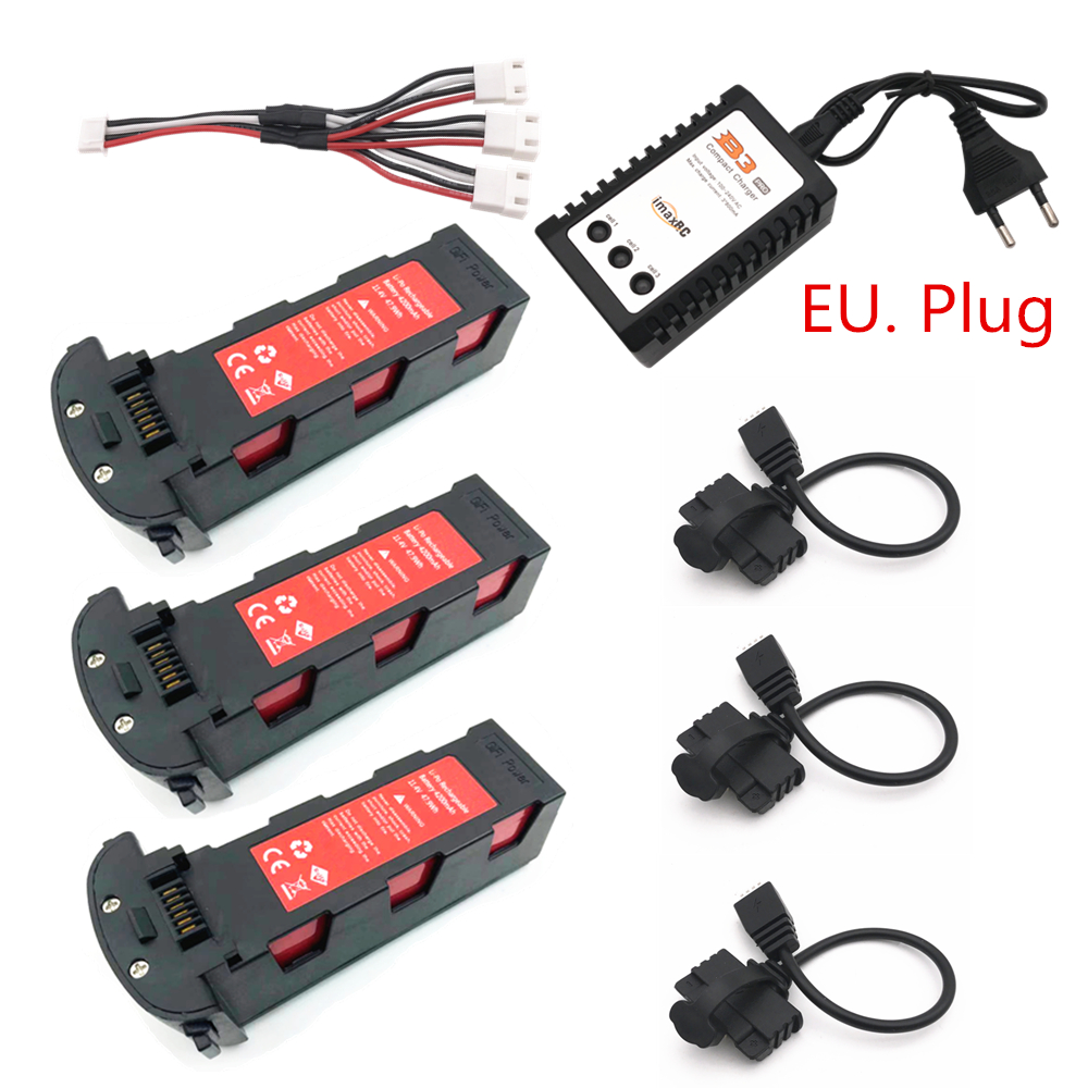 Upgrade 11.4v 4200mAh Battery With Charger For Hubsan H117S Zino GPS RC FPV Racing Camera Drones Quadcopter Parts 11.4V Battery