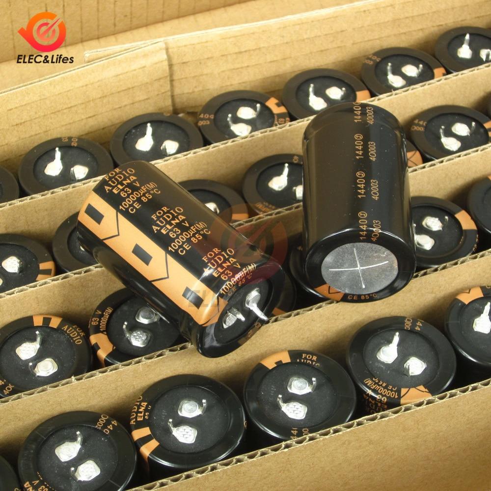 New Original ELNA 63V 10000μF Aluminum Electrolytic Capacitor LAO 10000μF63V 30X50mm Low ESR Capacitors DIY For Audio Car Auto