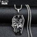 Женское Ожерелье из нержавеющей стали, маленькое ожерелье серебряного цвета в готическом стиле, рождественский подарок N3238S03