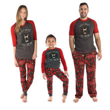 Mom Bear Baby Bear Shirt Mother and Son Daughter Matching Clothes Matching Family Outfits Family Pajamas Dad Bear PJS(China)