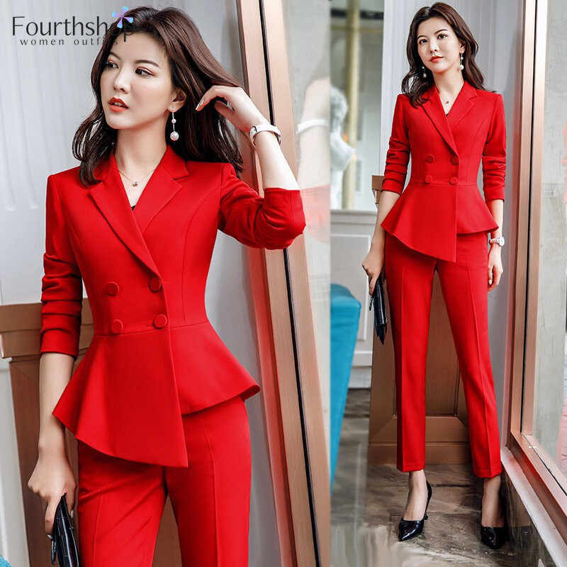 2020 Women Work Pant Suits Formal