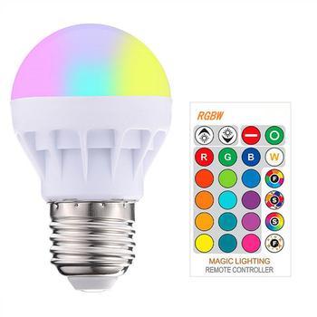 E26/E27 LED Bulbs Dimmable Color Changing RGB Magic LED Bulb 3w 85-265V RGB Led Lamp Spotlight IR Remote Control LED Bulbs hotook led bulbs lamp e27 lampada light 3w 5w 10w rgb dimmable lighting bombillas lamparas ampoule spotlight ball remote control