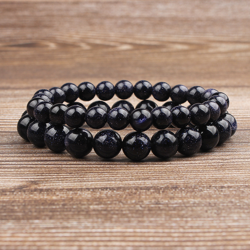 Lingxiang free transportation natural blue sand stone blue sand beads 4 6 8 10 <font><b>12</b></font> <font><b>mm</b></font> selected size jewelry bracelet image