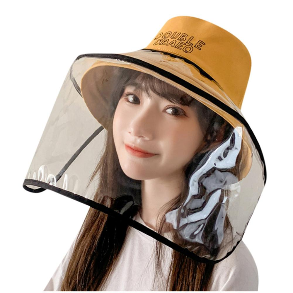 Anti-Fog Insulated Cotton Hat,  Protective Hat Dustproof Cover Peaked Cap Hat Adjustable Size,Transparent Protective Mask