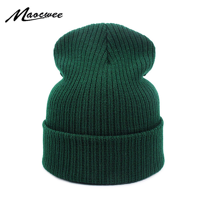 New Autumn Winter Hat For Women Men Unisex Skullies Beanies Warm Outdoor Hat Knitted Cap Hats Solid Color Dad Warm Cap Beanie