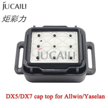 цена на Jucaili Allwin Yaselan printer cap top for DX5/DX7 head For Allwin E1800 E160 E180 E320 solvent plotters Capping station