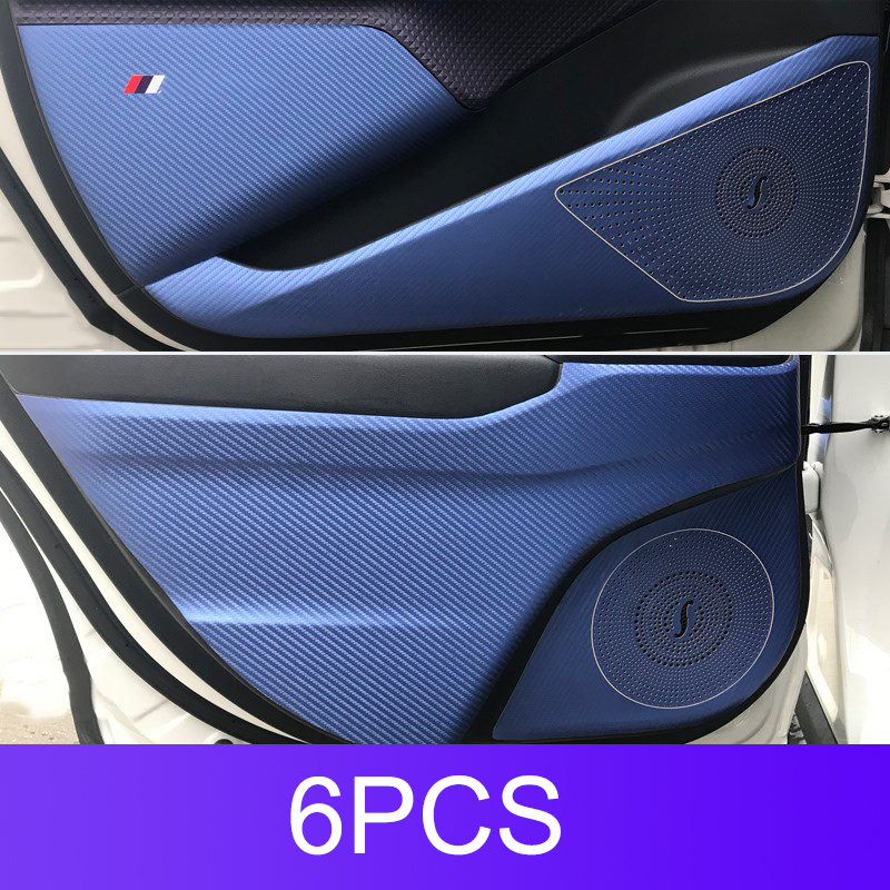 Carbon Fiber Anti-kick Pad Door Protective Pad Modification Parts Dedicated For Toyota C-HR CHR Interior Accessories