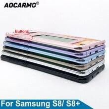 Aocarmo Giữa Khung Viền Nhà Ở Khung Xe Với Khay Sim Khe Cắm Nút Dính Dành Cho Samsung Galaxy Samsung Galaxy S8 G950 S8 Plus G955 s8 +