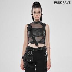 Gothic Heavy Metal Women Waist Bag Classic Pu Leather personality Sense Adjustable Metal Buckle Belt Bag PUNK RAVE WS-326
