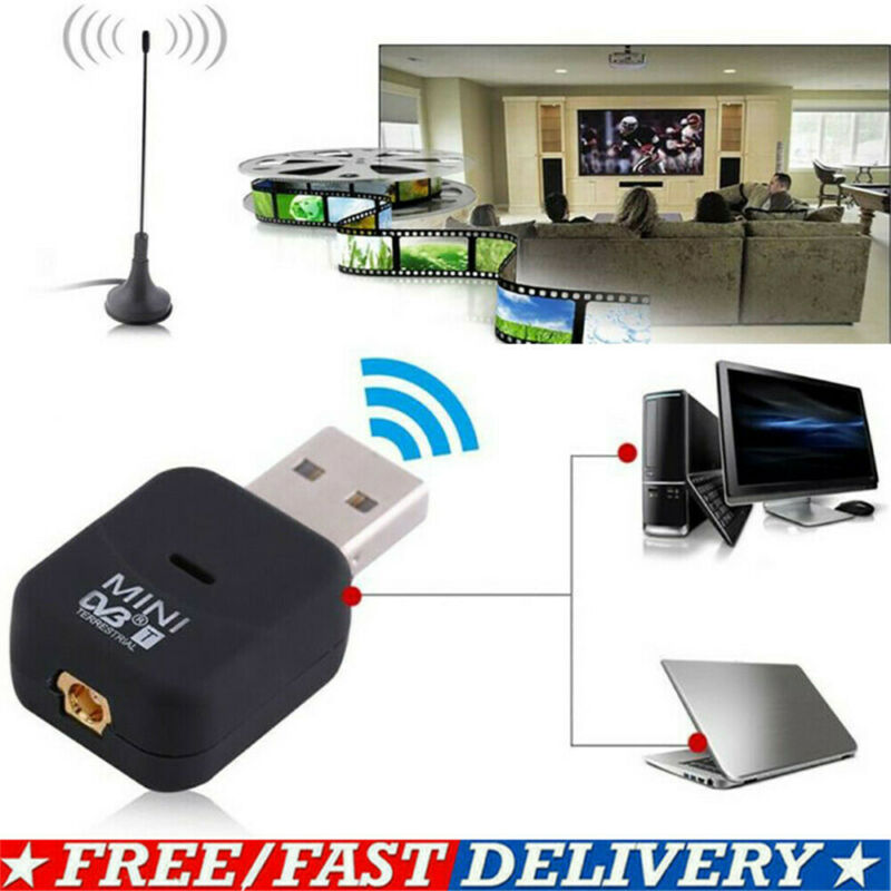 USB2.0 DVB-T Digital SDR TV HDTV Mobile Receiver Receiver Tuner Dongle Antenna