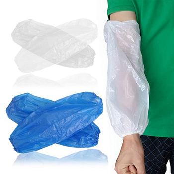100 szt Jednorazowy rękaw plastikowy wodoodporny rękaw-rękaw PE środowiskowy jednorazowy rękaw tanie i dobre opinie Wodoodporna CW236727 22 cm * 40 cm