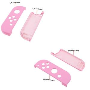 Image 4 - YuXi 보호 케이스 닌텐도 스위치 NS 조이 콘 교체 하우징 쉘 커버 NX 조이 콘 컨트롤러 케이스 그린 핑크