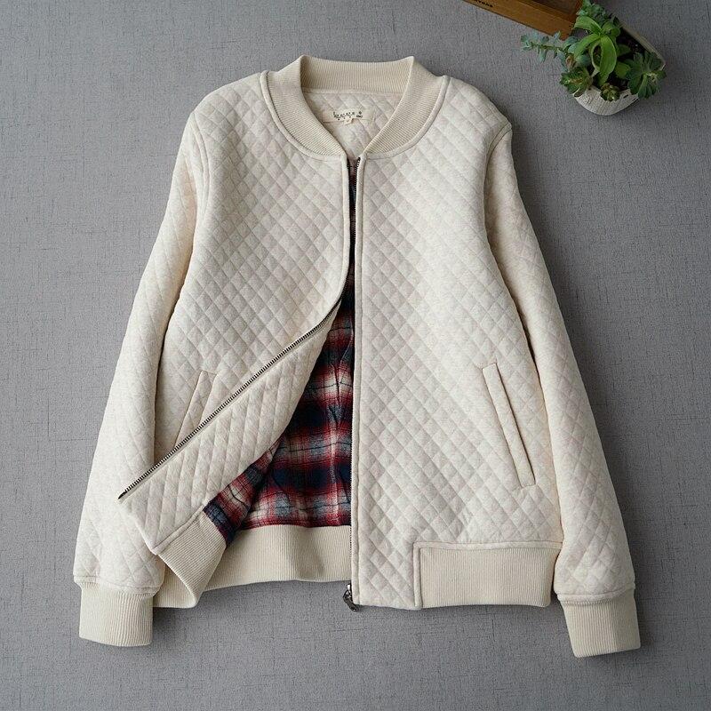 Printemps automne nouveautés femmes all-match ample grande taille Style japonais bref confortable mince coton rembourré vestes 3 couleurs
