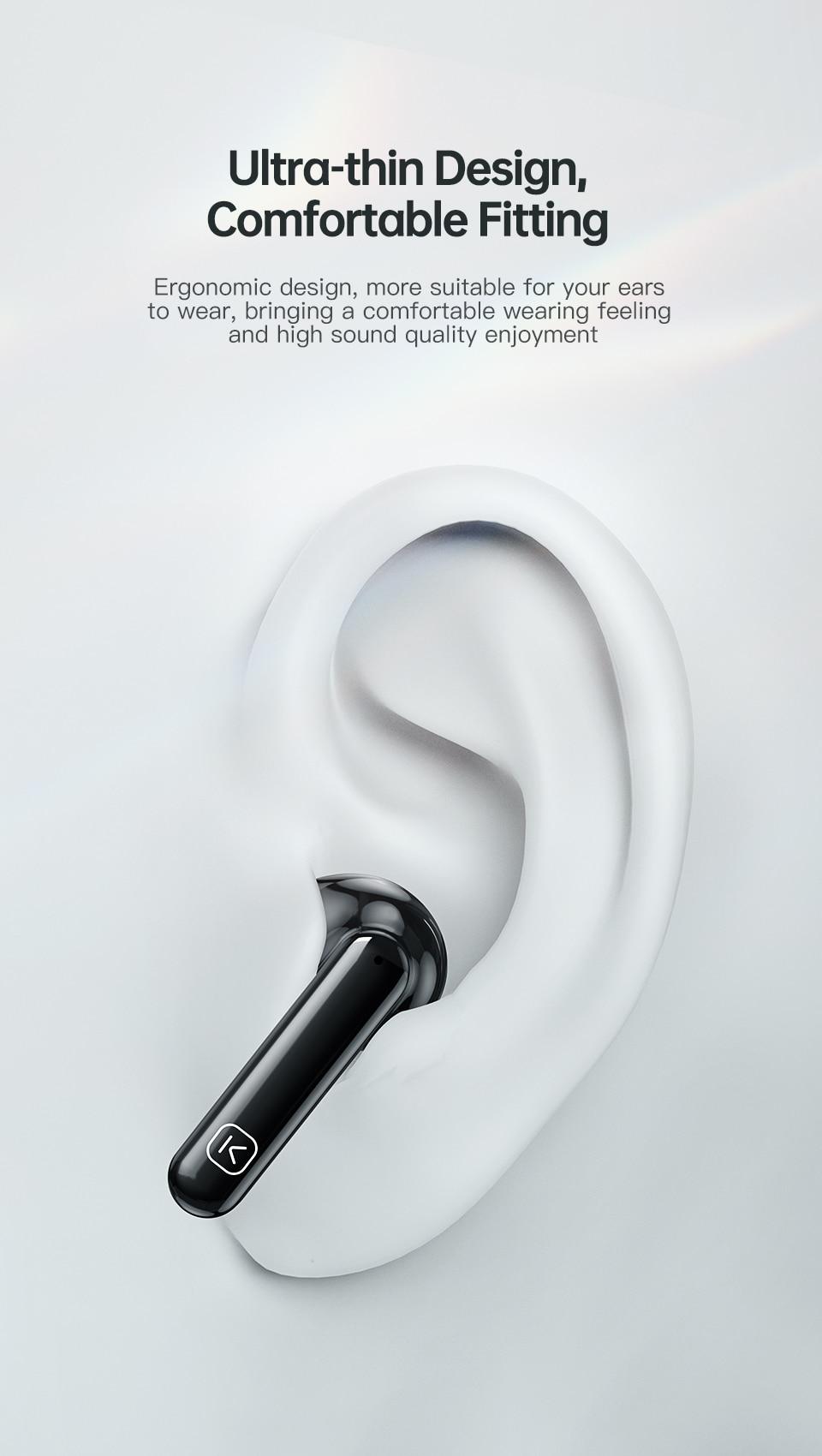 Kuulaa qcc 3040 verdadeiro fones de ouvido