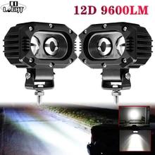 """Co Licht 12D Auto Led Verlichting Bar 4 """"96W Spot Flood Beam Led Werk Lamp Voor Motocycle niva Suv Vrachtwagens Boot 4X4 Led Bar 12V 24V"""