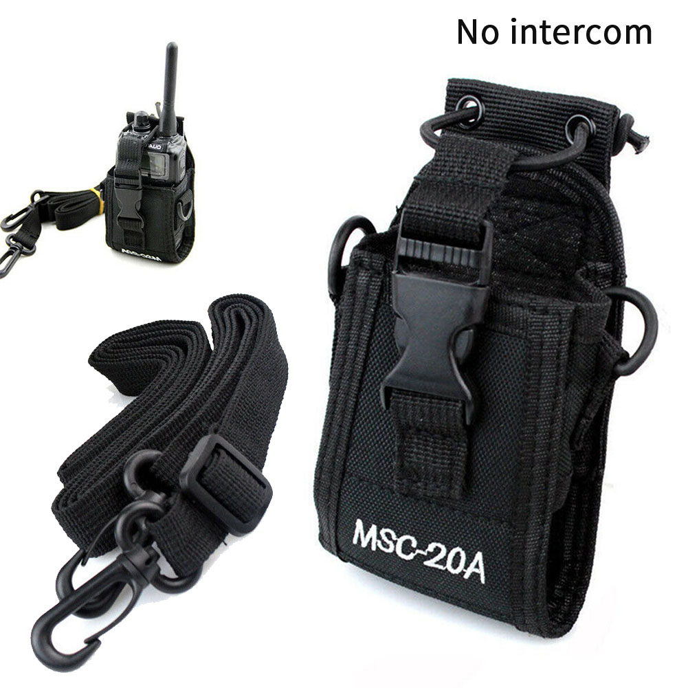 MCS20A Universal Pouch Shoulder Hanging Nylon Holster Accessories Radio Case Holder Walkie Talkie Hands Free Police Fireman