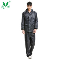 Yl Labor Safety Raincoat Outdoor Work Site Safe Light reflecting Raincoat Thick Polyester Taffeta Raincoat And Rain Pants Set Wh