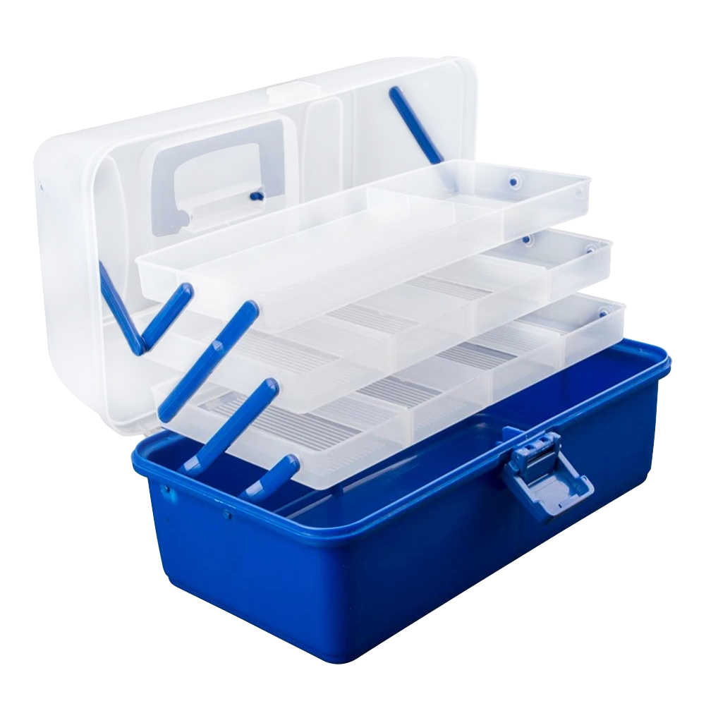 Fishhook Container Storage Fishing Tackle Box Multi Compartment Anti-Corrosion With Handle Non-toxic Anti Slip Large Capacity
