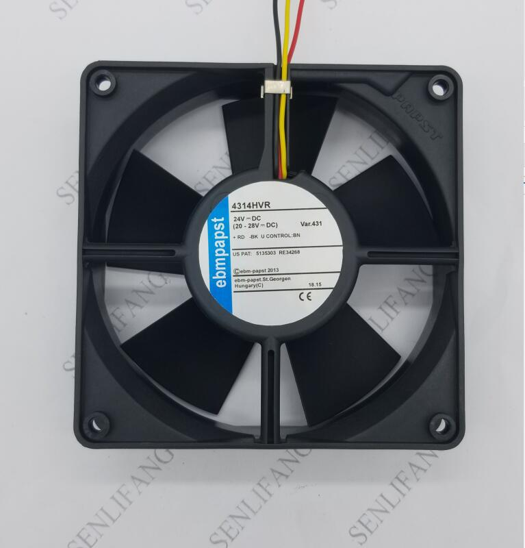For Ebmpapst 3-wire 4314HVR 4314 HVR DC 24V 8.2W 120x120x32mm Server Cooler Fan Free Shipping