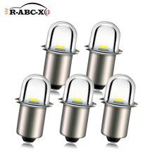RUIANDSION 5Pcs 2835SMD P13.5S PR2 Flashlight Bulb AC 3V 4.5V 6V 12V 18V Pure White 6000K LED Torch Light 150Lm Non Polarity