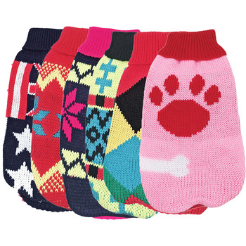 Winter Cartoon Dog Clothes Christmas Sweater For Dog Kawaii Cat Sweater Jacket For Small Dogs Chihuahua Yorkies Ropa Para Perros hot pets dog hoodies puppy coats jackets for chihuahua maltese cat costume dogs clothes ropa para perros xs xxl clothing
