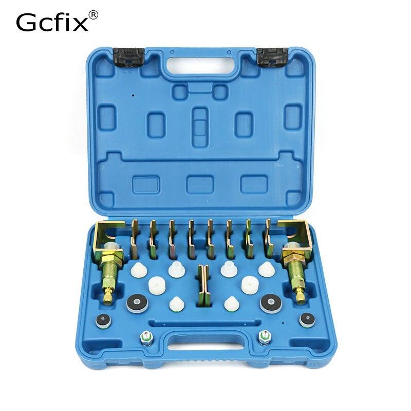 Evrensel A/C kaçak test dedektörü aracı/gömme montaj adaptörü kiti (Fit 98% araçlar) a/C sistemi için onarım aracı