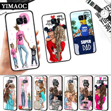 Super Mom Dad And Baby Silicone Soft Case for Samsung S6 S7 Edge S8 S9 S10 Plus Note 8 9 10 M10 M20 M30 M40 j6