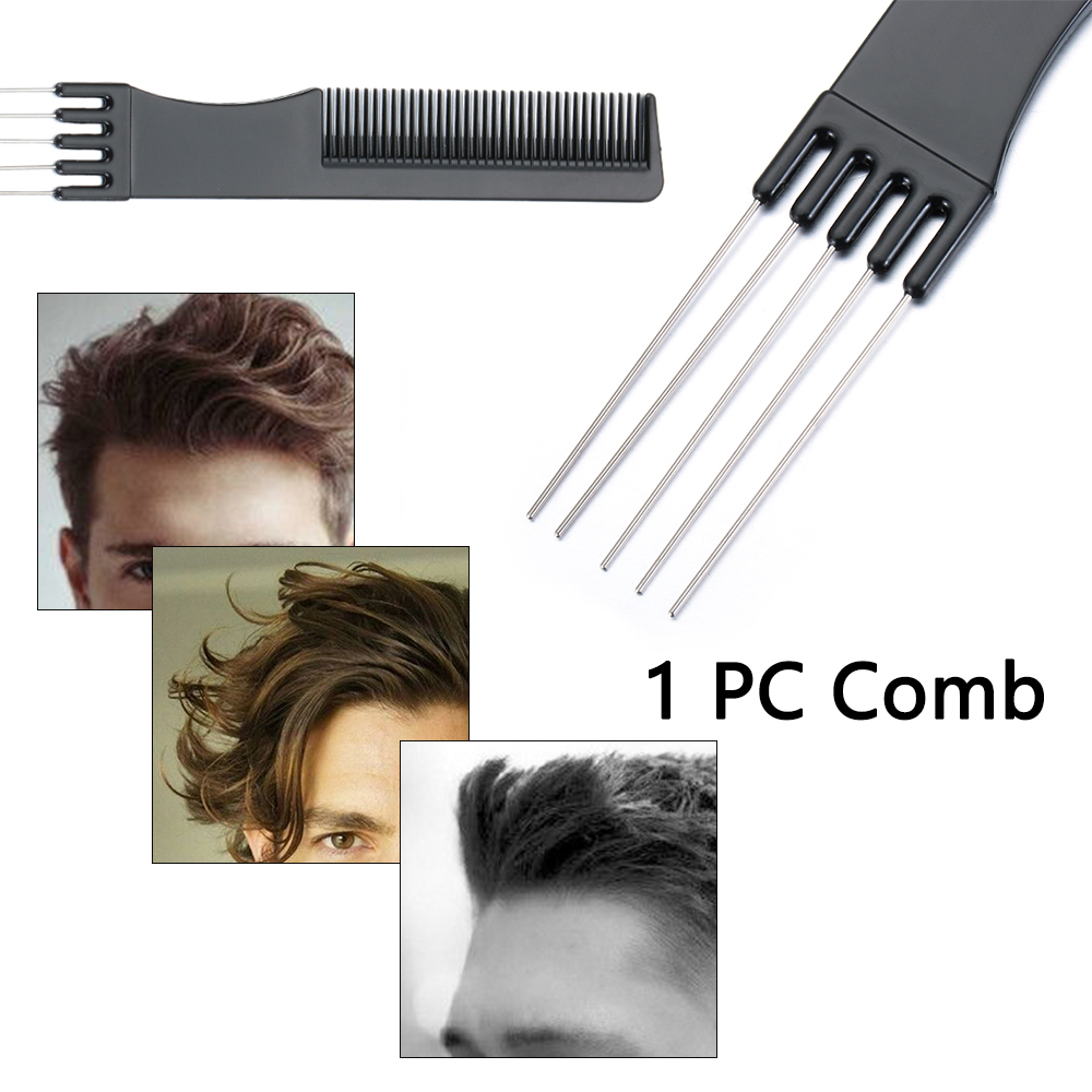 Профессиональные технические мужские двухсторонние гребни, стальные гребни, гребни для вилки, щетка для волос, парикмахерский инструмент д...