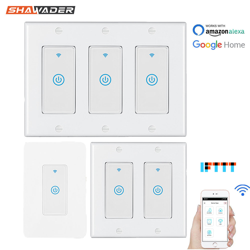 Smart Wifi Light Touch Wall Switch Us Interruptor Wireless