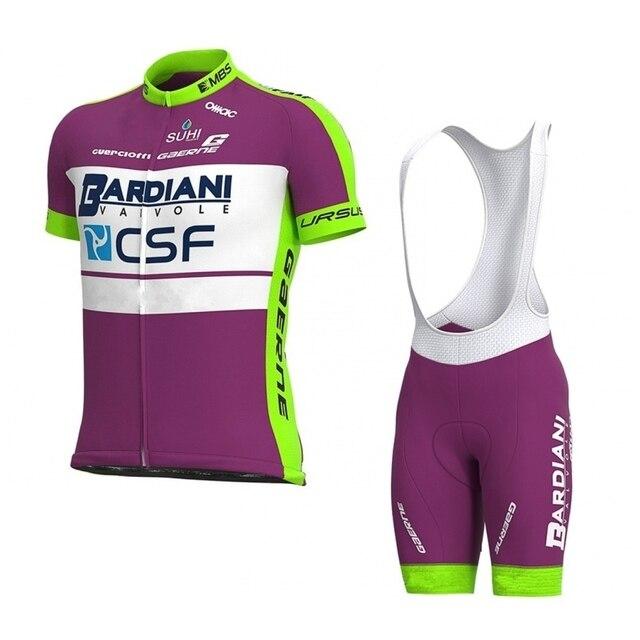 2020 pro equipe bardiani csf roxo conjunto camisa de ciclismo bicicleta maillot respirável mtb secagem rápida ropa ciclismo 9d gel almofada 1
