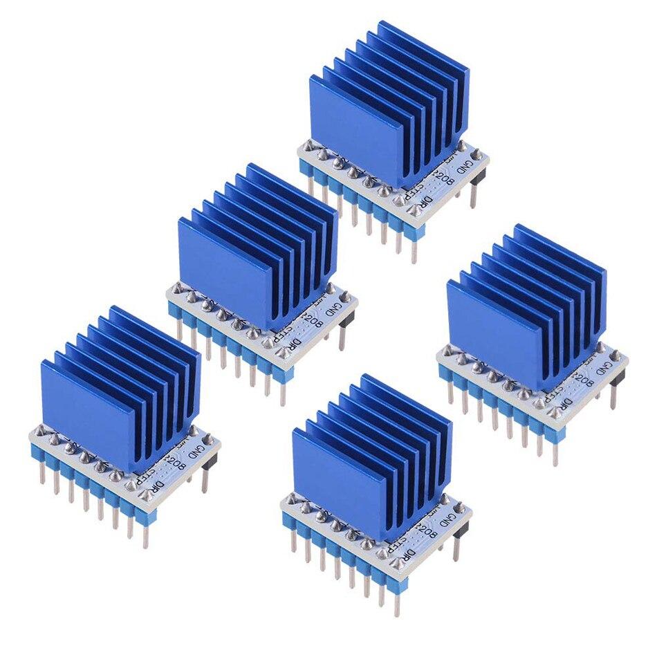 3D 프린터 스테퍼 모터 드라이버 TMC2208 V1.2 3D 프린터 부품 용 방열판이있는 스텝 스틱 스테퍼 모터 드라이버 모듈 캐리어