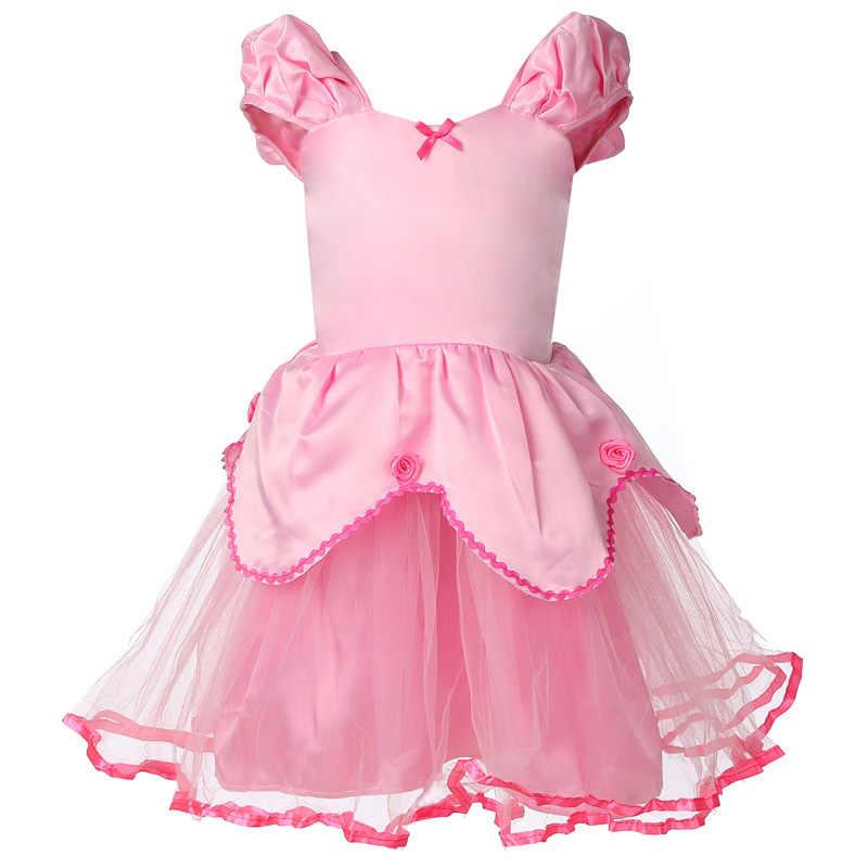 Новое летнее платье принцессы, детская одежда на Хэллоуин для девочек, карнавальный костюм, вечерние платья, одежда для малышей