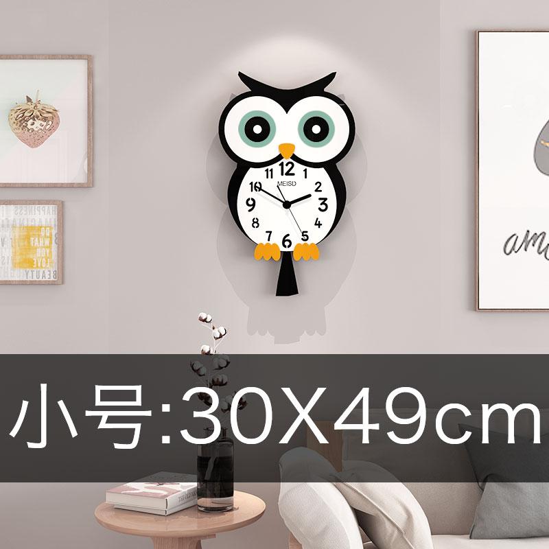 Cartoon Creative Wall Clock Wood Large Children Room Boys Bedroom Silent Wall Watch Kitchen Vintage Klok Home Decor 50ZB50