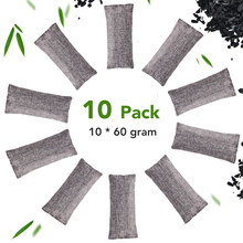 Sachet de charbon de bambou, 10 pièces, sacs de purification d'air, désodorisant naturel, purificateur de charbon actif, sacs de produits ménagers