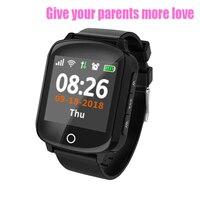 Waterproof GPS Tracker D200 Smart Watch Mobile Phone For Elderly Blood Pressure & Heart Rate Detection SOS Geo Fence Fall Alarm