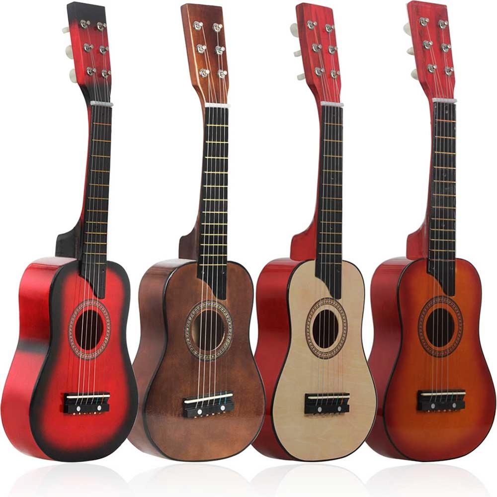 25Inch Six-String Ukulele Instrument Student Beginner Child Simulation Novice Teaching Small Guitar Child Enlightenment Toy Gift