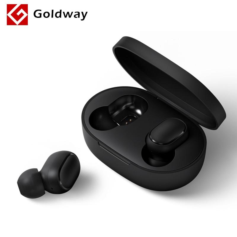Xiaomi Redmi AirDots inalámbrico Bluetooth 5,0 auricular de carga en la oreja estéreo bajo auriculares AI Control con micrófono manos libres auriculares