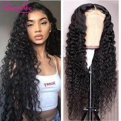 13x6 HD Прозрачная Кружевная передняя часть парика водная волна кружевной передний парик для черных женщин водная волна 4X4 парики из натуральн...
