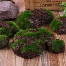 6 unidades/pacote falso rocha verde espuma musgo pedra flor artificial microplaqueta de madeira micro paisagismo grama planta animal de estimação brinquedo casa decoração do jardim