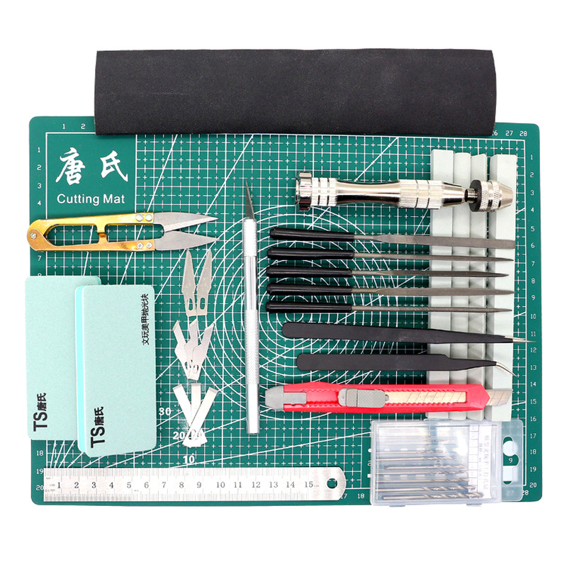 Grid Lines Self Healing Cutting Mat Craft Card Fabric Leather Paper Board Manual Modeling Components Pvc Mat Pencil Knife Tool