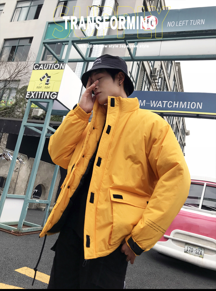 Men's Quality Student Winter Clothes Jacket Men Parka Thick Warm Outwear Korean Youth Streetwear Hip Hop Japan Style Harajuku 13