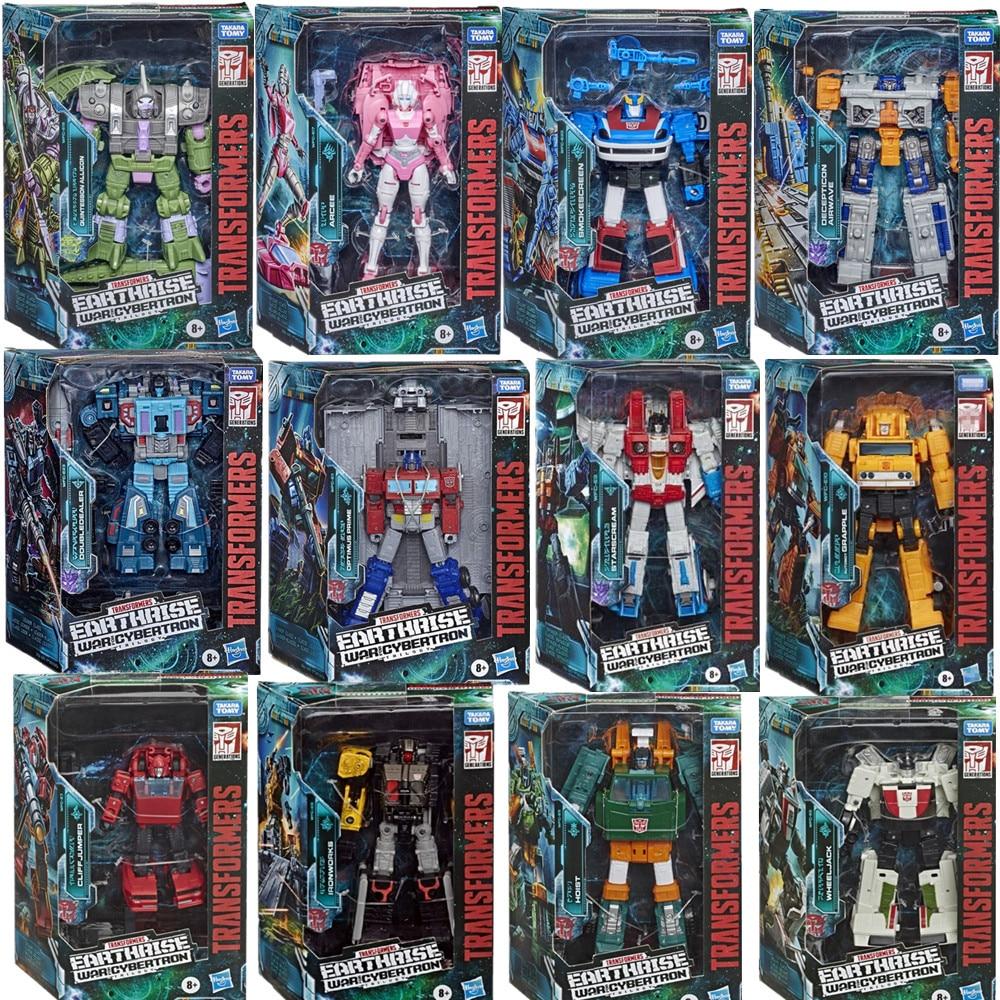 Экшн-фигурки Hasbro Transformer Toys поколения война для Кибертрона: земля Rise WFC-серия Arcee Optimus Prime starcry, игрушки